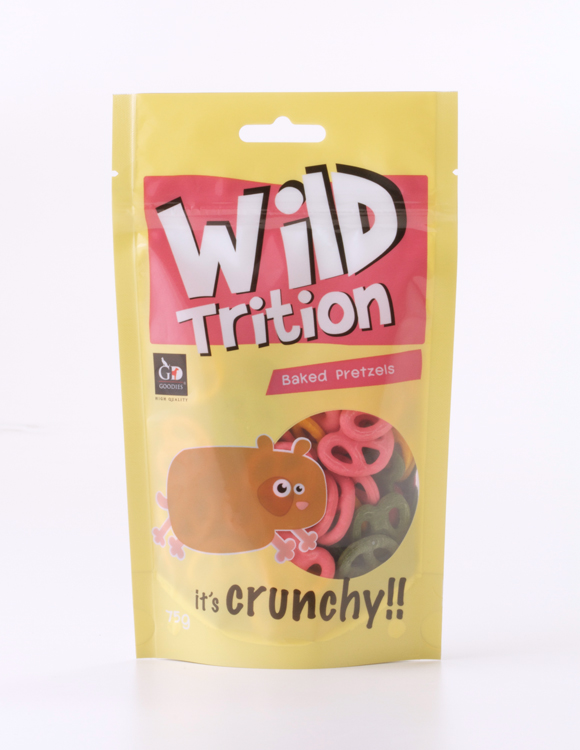 Wildtrition Packaging design (Pretzels) : front