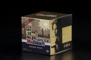 Caffe' Molinari (Aroma pack) Packaging design by Butterfire Co.,Ltd.