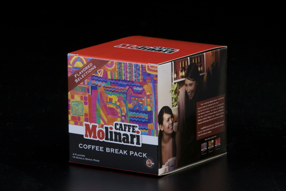 Caffe' Molinari (Coffee break pack) Packaging design by Butterfire Co.,Ltd.